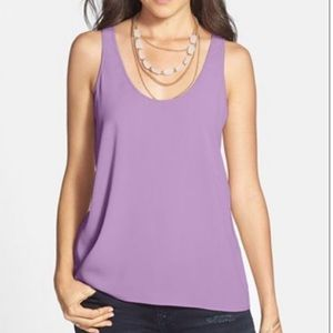 5/15$ Frenchi Lavender Purple Silky Tank